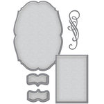Spellbinders - Wedding Collection - Shapeabilities Die - Classic Elegance Label