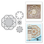 Spellbinders - Nestabilities Collection - Die - Label 46 Decorative Accent