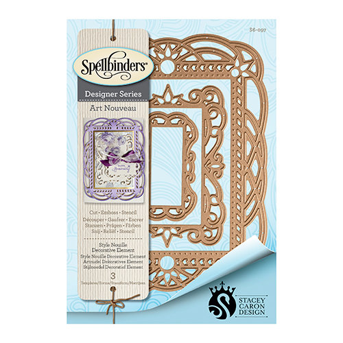 Spellbinders - Art Nuveau Collection - Nestabilities Die - Style Nouille Decorative Element