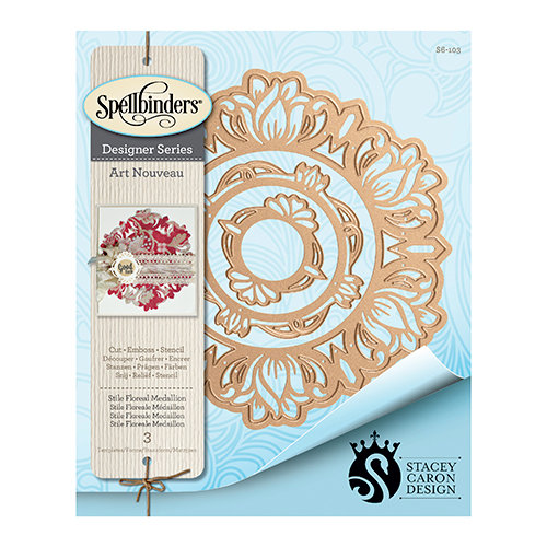 Spellbinders - Art Nuveau Collection - Shapeabilities Die - Stile Floreal Medallion