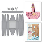 Spellbinders - Special Occasions Collection - Shapeabilities Die - Floral Picnic Basket