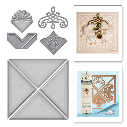 spellbinders graceful borders collection card creator die graceful 6 x 6 frame