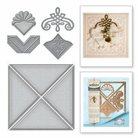 Spellbinders - Graceful Borders Collection - Card Creator - Die - Graceful 6 x 6 Frame Maker