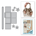 Spellbinders - Celebrate the Day Collection - Shapeabilities Dies - Lattice Floral Basket