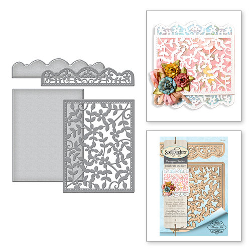Spellbinders - Celebrate the Day Collection - Card Creator - Die - Framed Floral Card Front