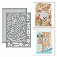 Spellbinders - Tropical Paradise Collection - Dies - Banana Leaf Card Front