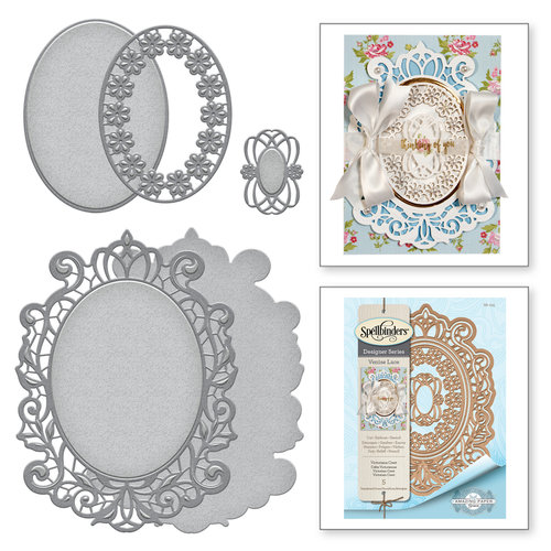Spellbinders - Venise Lace Collection - Dies - Victoriana Crest