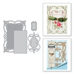 Spellbinders - Chantilly Paper Lace Collection - Shapeabilities Dies - Coralenes Chemise Layering Frame Large