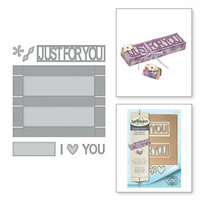 Spellbinders - Thoughtful Expressions Collection - Etched Dies - Just For You Box