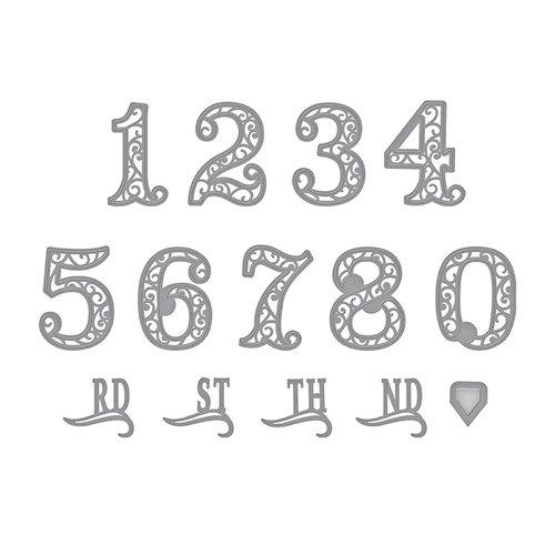 Spellbinders - Elegant 3D Cards Collection - Etched Dies - Filigree Numbers
