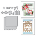 Spellbinders - Sew Sweet Collection - Shapeabilities Dies - Posies and Pennies