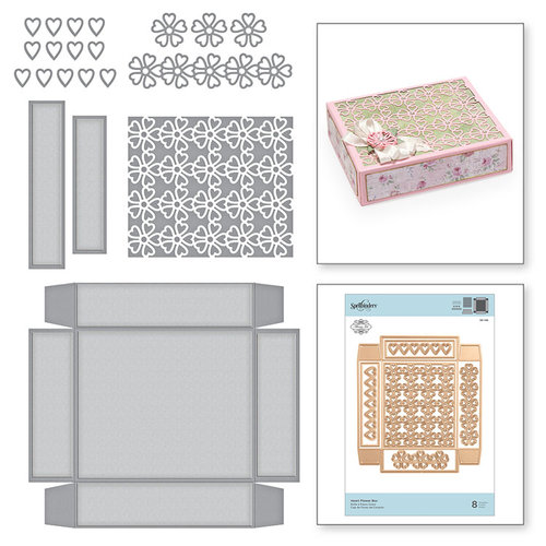 Spellbinders - Blooming Garden Collection - Etched Dies - Heart Flower Box
