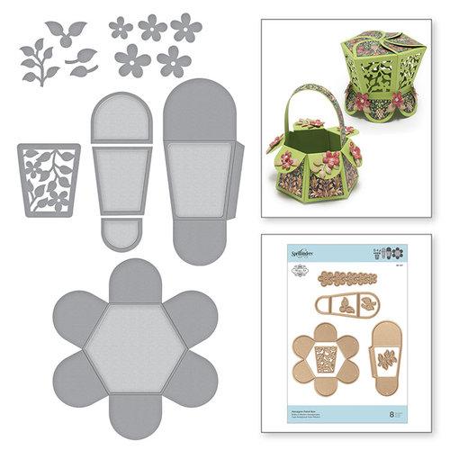 Spellbinders - Blooming Garden Collection - Etched Dies - Hexagon Petal Box