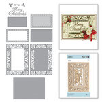 Spellbinders - A Charming Christmas Collection - Shapeabilities Dies - Holly Jolly Christmas