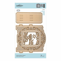 Spellbinders - Christmas - 3D Holiday Vignettes Collection - Etched Dies - Grand Holiday Cabinet
