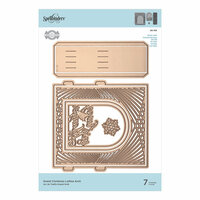 Spellbinders - Christmas - 3D Holiday Vignettes Collection - Etched Dies - Grand Christmas Lattice Arch