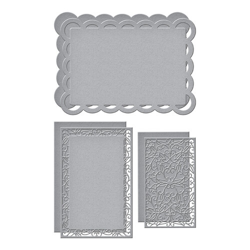 Spellbinders - Make a Scene Collection - Etched Dies - Scallop Facade Frame