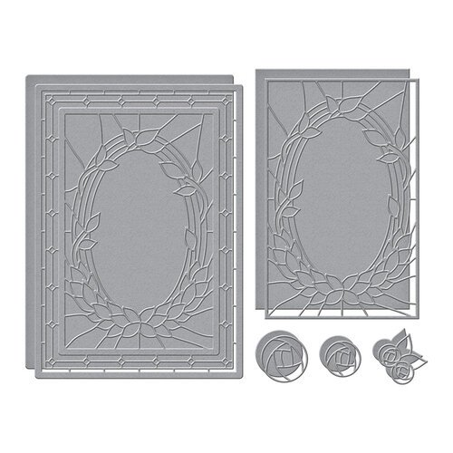 Spellbinders - Stained Glass Bouquet Collection - Etched Dies - Deco Bloom