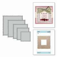 Spellbinders - Special Moments Collection - Shapeabilities Dies - Vintage Stitched Squares