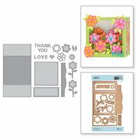 Spellbinders - Exquisite Splendor Collection - Shapeabilities Die - Flower Box Card