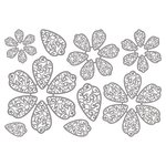 Spellbinders - Clear Acrylic Stamps - Flower Play