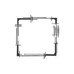 Spellbinders - Clear Acrylic Stamps - Window 3