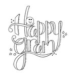 Spellbinders - Tammy Tutterow Collection - Clear Acrylic Stamps - Happy Gram