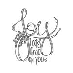 Spellbinders - Tammy Tutterow Collection - Clear Acrylic Stamps - Joy Looks Good On You