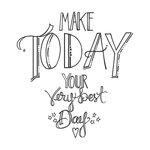 Spellbinders - Tammy Tutterow Collection - Clear Acrylic Stamps - Make Today Your Best Day