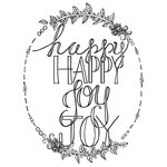 Spellbinders - Tammy Tutterow Collection - Clear Acrylic Stamps - Happy Happy Joy Joy