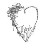 Spellbinders - Tammy Tutterow Collection - Clear Acrylic Stamps - Thank You
