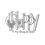 Spellbinders - Tammy Tutterow Collection - Clear Acrylic Stamps - Happy is My Favorite Color