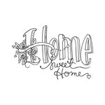Spellbinders - Tammy Tutterow Collection - Clear Acrylic Stamps - Home Sweet Home