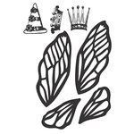Spellbinders - Donna Salazar Collection - Clear Acrylic Stamps - Art Doll Accessories B