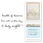 Spellbinders - 3D Shading Cling Stamps - Sentiments III