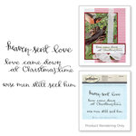 Spellbinders - 3D Shading Cling Stamps - Sentiments IV