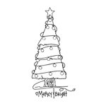 Spellbinders - Tammy Tutterow Collection - Christmas - Clear Acrylic Stamps - Merry and Bright Tree