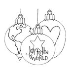 Spellbinders - Tammy Tutterow Collection - Christmas - Clear Acrylic Stamps - Joy to the World