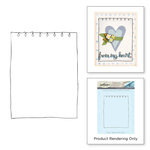 Spellbinders - Happy Grams 4 Collection - Cling Mounted Stamps - Notebook Border