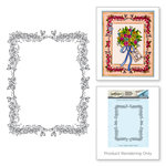 Spellbinders - Happy Grams 2 Collection - Rubber Stamps - Rose Border