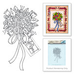 Spellbinders - Happy Grams 2 Collection - Rubber Stamps - Flower Bouquet