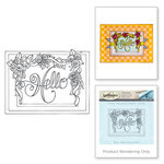 Spellbinders - Happy Grams 2 Collection - Rubber Stamps - Framed Hello
