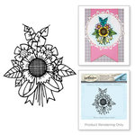 Spellbinders - Cling Stamp Set - Sunflower Bunch