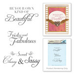 Spellbinders - Rouge Royal Collection - Clear Acrylic Stamps - Feisty and Fabulous