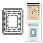 Spellbinders - Rubber Stamps - Rectangle Radiance