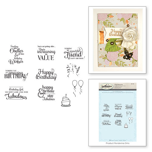 Spellbinders - Rubber Stamps - Special Birthday Sentiments