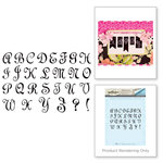 Spellbinders - Joyous Celebrations Collection - Rubber Stamps - Alphabet Upper