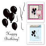 Spellbinders - Joyous Celebrations Collection - Rubber Stamps - Birthday Balloons