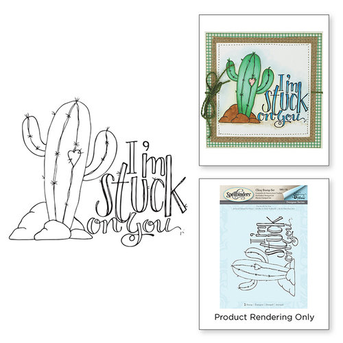 Spellbinders - Happy Grams 3 Collection - Cling Mounted Stamps - I