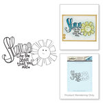 Spellbinders - Happy Grams 3 Collection - Cling Mounted Stamps - Shine